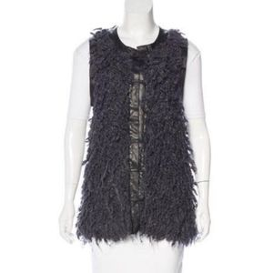 Wool Vest Rag & Bone Leather Trim